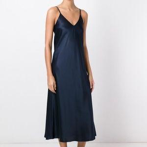 Helmut Lang Draped Silk Slip Dress